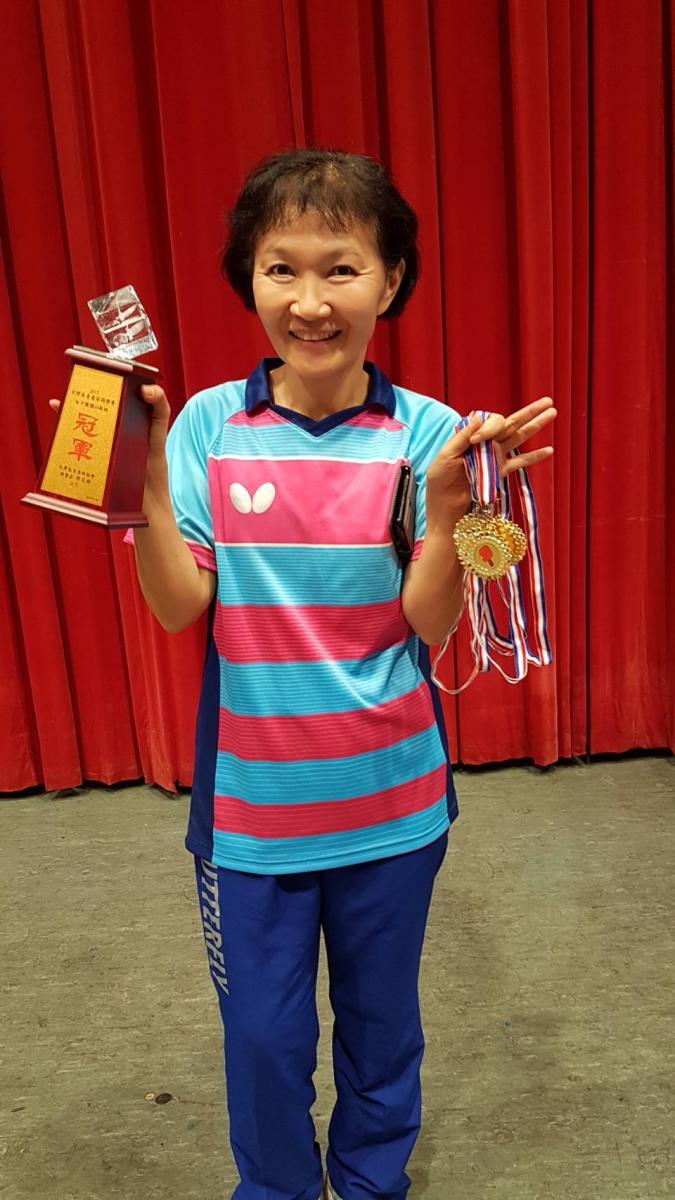 Total Swiss女子桌球隊 勇奪台灣長青盃三冠王圖細胞營養之6