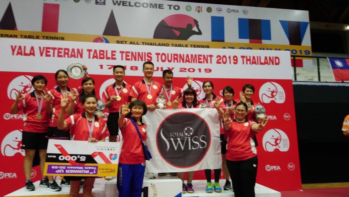 Total Swiss台馬桌球隊揚威泰國 YALA長青盃勇奪2金1銀1銅圖細胞營養之7