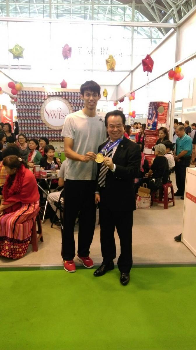 韓國跆拳道公開賽 Total Swiss 贊助好手一金一銀圖細胞營養之3