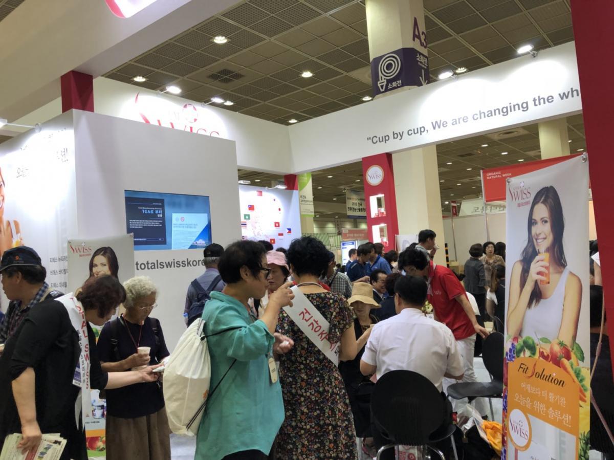Total Swiss 韓國COEX大展D1 盛大登場篇圖細胞營養之11