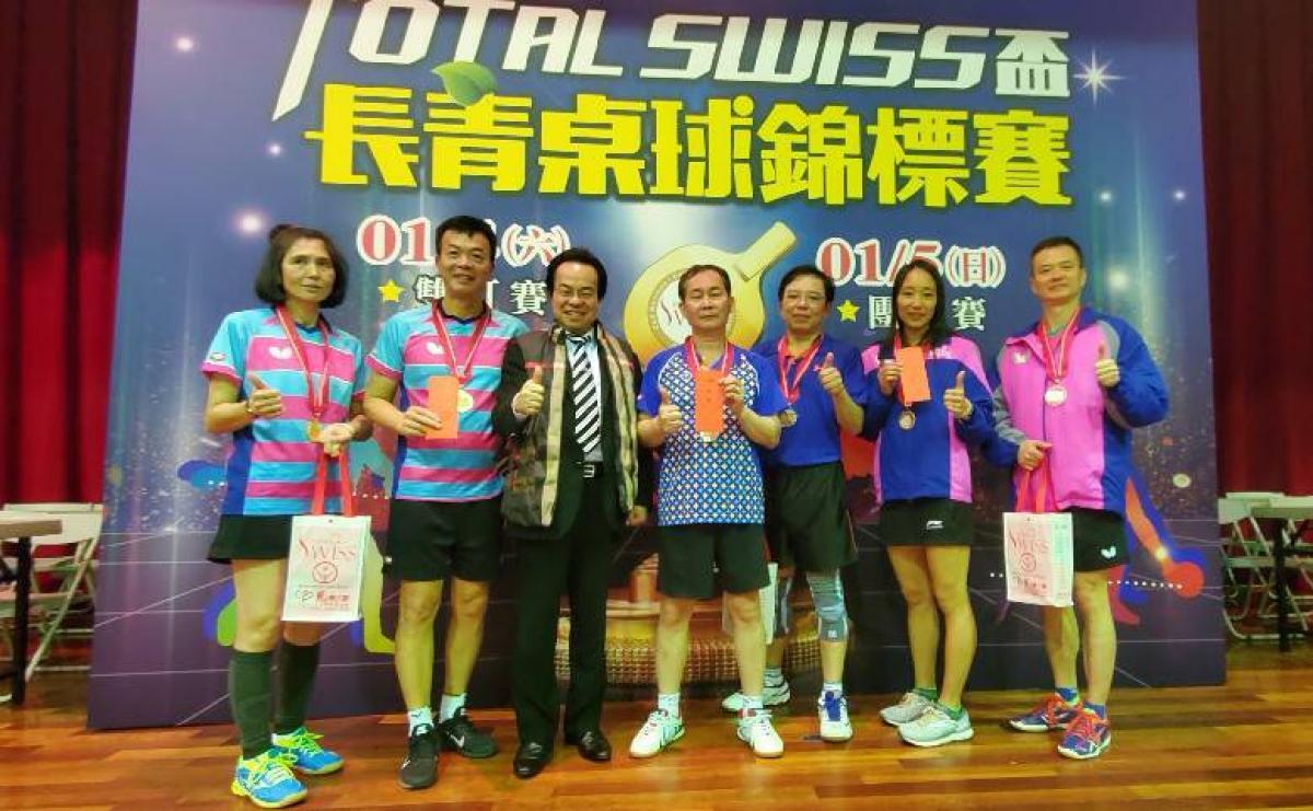 第二屆Total Swiss盃長青桌球錦標賽 精彩雙打囊括大獎圖細胞營養之12