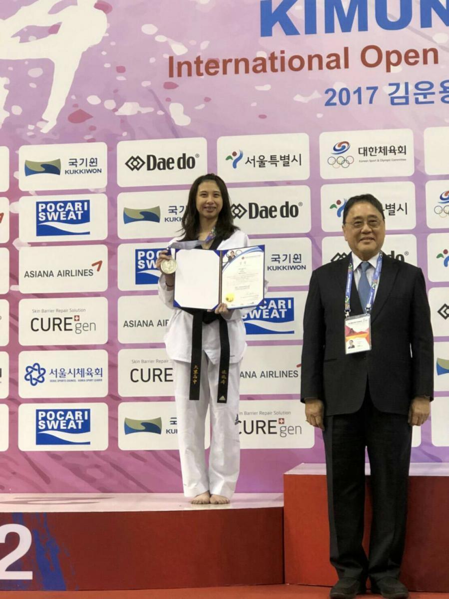 韓國跆拳道公開賽 Total Swiss 贊助好手一金一銀圖細胞營養之2