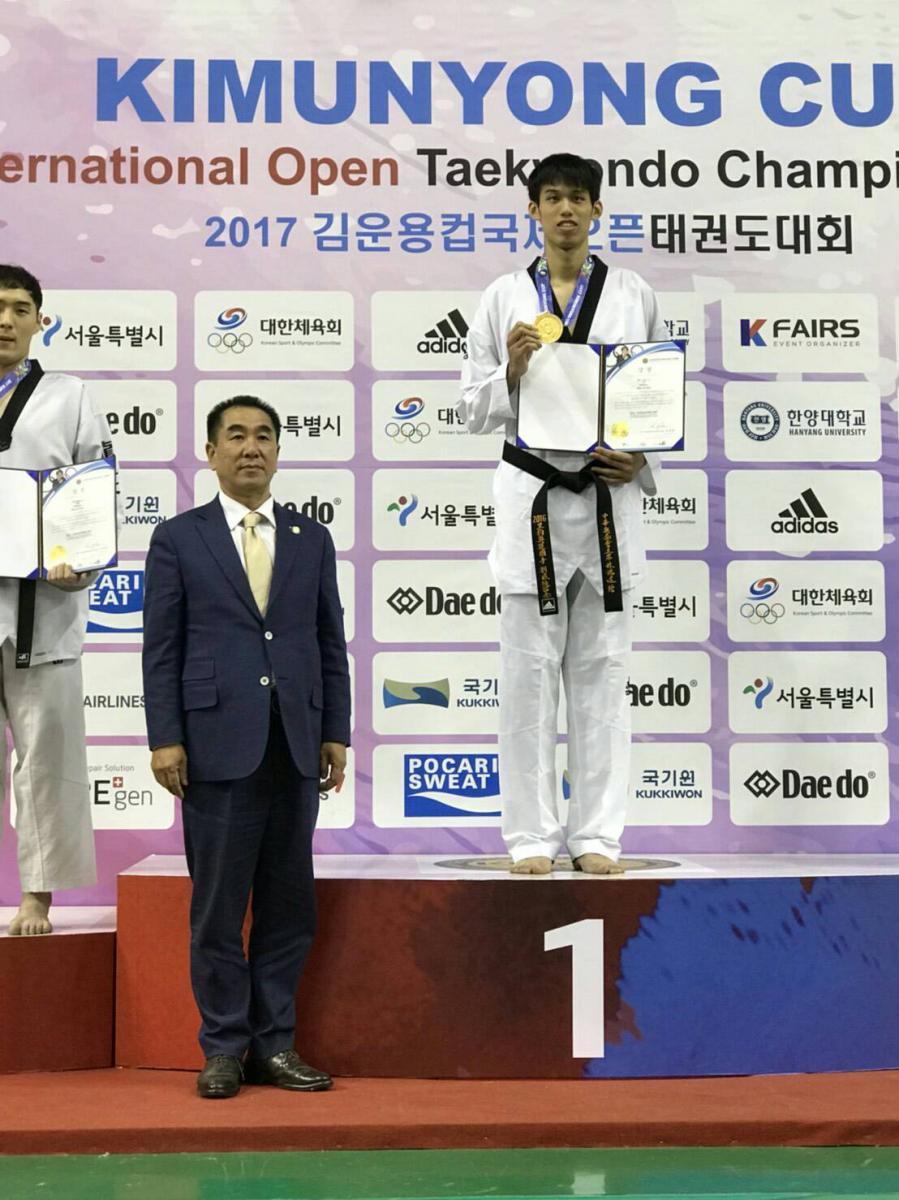 韓國跆拳道公開賽 Total Swiss 贊助好手一金一銀圖細胞營養之1