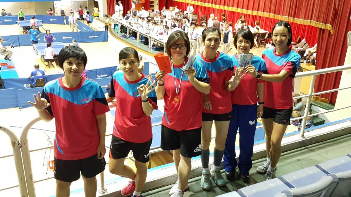 Total Swiss女子桌球隊 勇奪台灣長青盃三冠王圖細胞營養之2